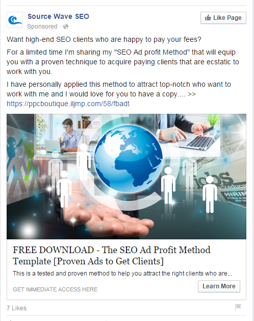 facebook ad sample